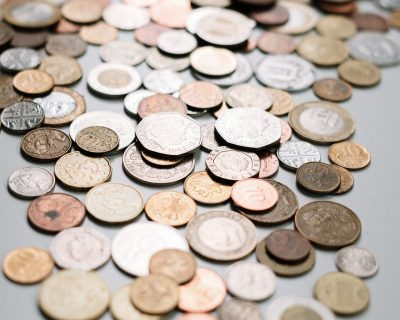 A pile of british currency